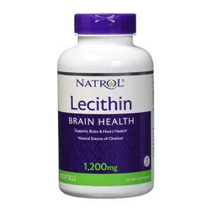 อาหารเสริมเลซิติน Natrol® Lecithin 1,200 mg 120 ซอฟท์เจล