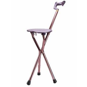 ไม้เท้าช่วยพยุงเดิน พร้อมเก้าอี้ อลูมิเนียม สำหรับผู้สูงอายุ