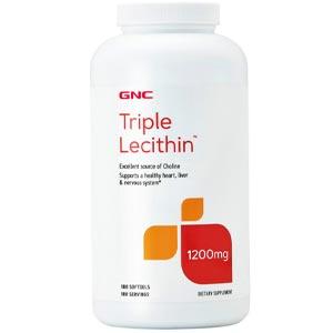 อาหารเสริมเลซิติน GNC Lecithin 1200mg 90 Softgels