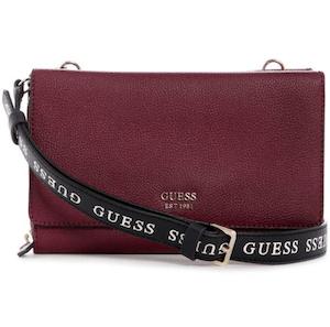 กระเป๋าสตางค์สะพายได้ GUESS รุ่น VG788679 CAMI DOUBLE FLAP CROSSBODY สีแดง