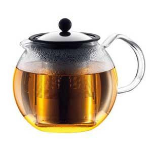 กาชงชา ขนาด 34 ออนซ์ สีเงิน