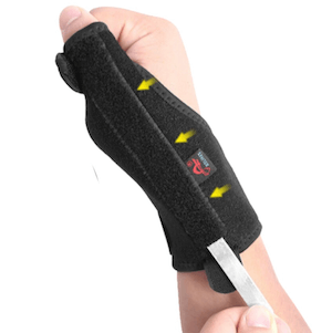 AOLIKES สายรัดข้อมือ และ ที่พยุงนิ้วหัวแม่มือ รุ่นเสริมแผ่นเหล็ก