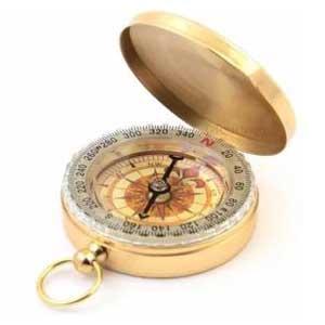Crvid เข็มทิศ สีทองสุดคลาสสิค Classic Compass