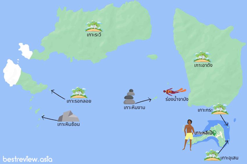 นั่งเรือไปเกาะรอบหลีเป๊ะ ที่ไม่ไกล และน่าสนใจ