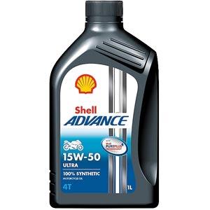 SHELL ADVANCE ULTRA น้ำมันเครื่องมอเตอร์ไซค์ สังเคราะห์แท้ 100 % สำหรับรถ 4 จังหวะ