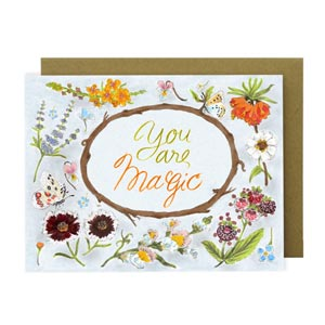 การ์ดอวยพร You Are Magic Manuscript จาก Plant House Greeting Card
