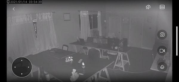 ภาพที่ได้จากการบันทึกของกล้อง Mi 360 ° ในเวลากลางคืน