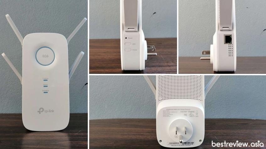 ดีไซน์การออกแบบของ TP-Link RE650 AC2600 Wi-Fi Range Extender