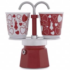 Bialetti หม้อต้มกาแฟ รุ่น Mini express ลาย Red emotion ขนาด 2 cups