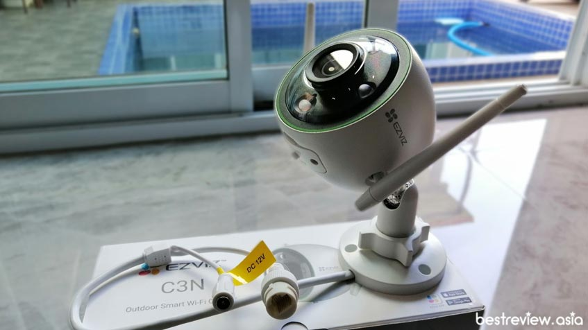 ดีไซน์ของกล้องวงจรปิด Ezviz C3N