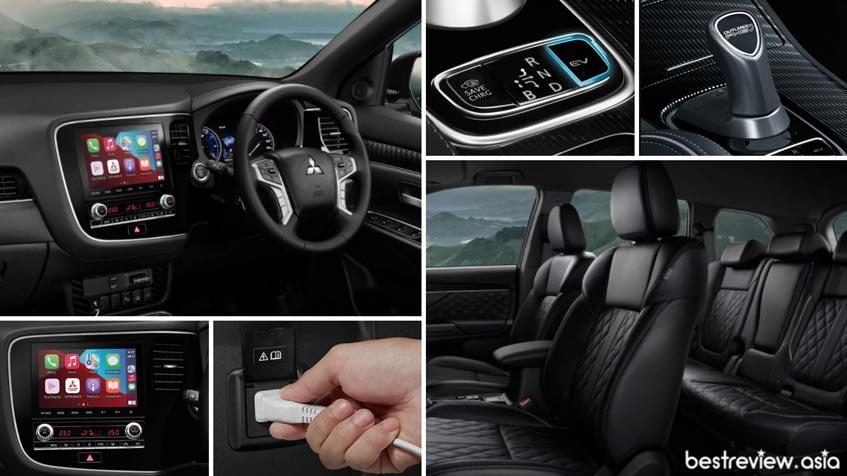ดีไซน์การออกแบบภายในห้องโดยสาร Mitsubishi Outlander PHEV