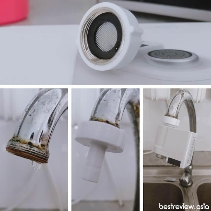 ขั้นตอนการติดตั้ง Xiaomi Xiaoda Automatic Water Saver Tap