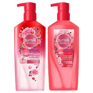 แชมพู Sunsilk Natural Perfume Blossom Rose Water & Mixed Berry Shampoo