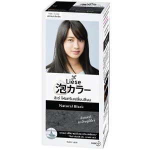 ลิเซ่ บับเบื้ล โฟมเปลี่ยนสีผม แนเชอรัล แบล็ค Liese Bubble Color Natural Black