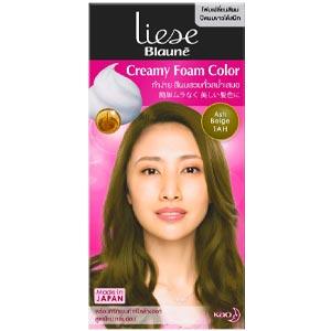 ลิเซ่ โบลว์เน่ โฟมเปลี่ยนสีผม สีแอช เบจ Liese Blaune Foam Color Ash Beige