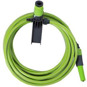 ชุดสายยางพร้อมที่แขวน SPRING ขนาด ⅜ นิ้ว สีเขียว