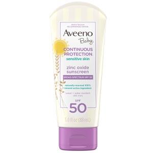 ครีมกันแดดจากธรรมชาติ Aveeno Baby Continuous Protection