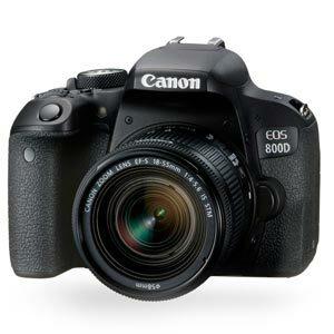 Canon EOS 800D kit 18-55 mm.