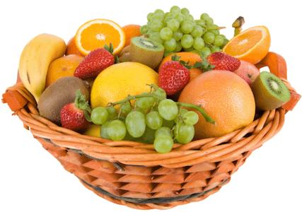 ตะกร้าหวาย ผลไม้