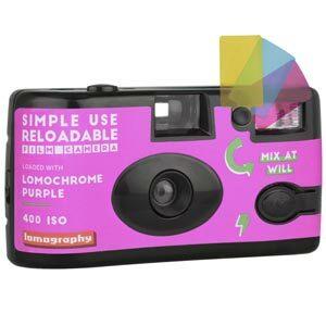 Lomography LomoChrome Purple Simple Use Film Camera กล้องฟิล์ม โหลดฟิล์มเข้าไปใหม่ได้