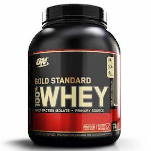 [ออปติมัม นิวทริชั่น] Optimum Nutrition หรือ ON เวย์ Gold Standard 100% เวย์โปรตีน เพิ่มกล้ามเนื้อ/ลดไขมัน ขนาด 2.27 กิโลกรัม (5 ปอนด์)