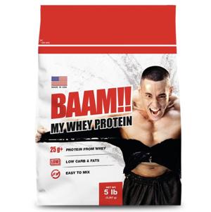 BAAM 100% MY WHEY เวย์โปรตีน เพิ่มกล้ามเนื้อ/ลดไขมัน ขนาด 2.27 กิโลกรัม (5 ปอนด์)