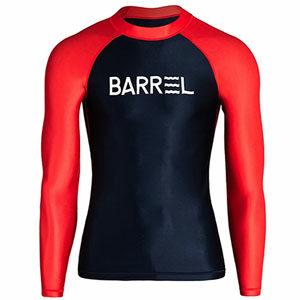 ชุดว่ายน้ำแขนยาว BARREL MEN ODD RASHGUARD - DEEP NAVY