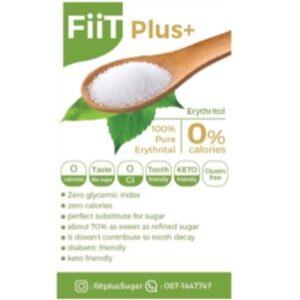 น้ำตาลอิริทริทอล 100% จาก Fiit Plus+ Erythritol (15 กรัม)