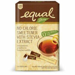 Equal Stevia อิควล สตีเวีย แบบซอง ผลิตภัณฑ์ให้ความหวานแทนน้ำตาล