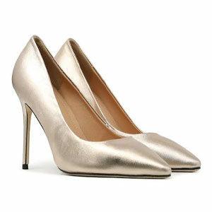 """รองเท้าส้นสูง SHU CELEB HEELS 4"""" IN MILAN-ROSE GOLD"""