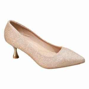 รองเท้าส้นสูงเกล็ดเพชร รองเท้าคัชชูส้นสูง