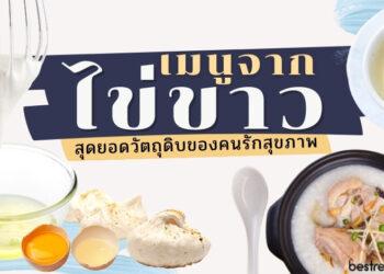 เมนูจากไข่ขาว สุดยอดวัตถุดิบของคนรักสุขภาพ