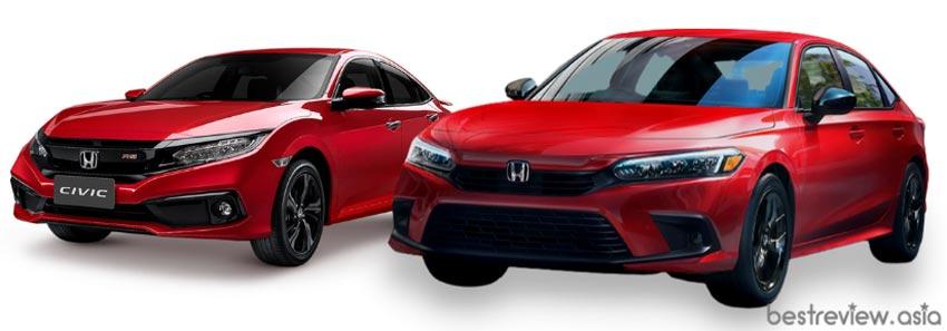 Honda Civic 10 th-Gen และ All-New Honda Civic 11 th-Gen