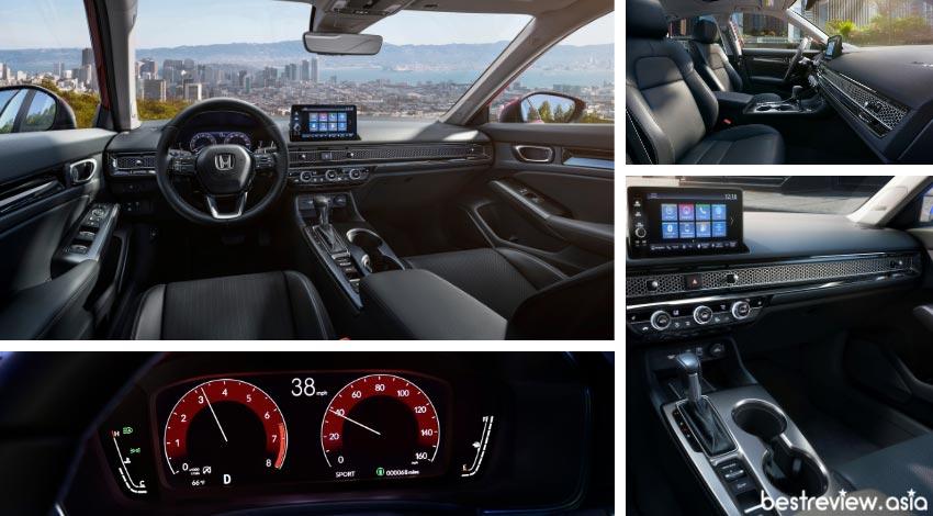ดีไซน์ภายในห้องโดยสาร All-New Honda Civic 11th Generation