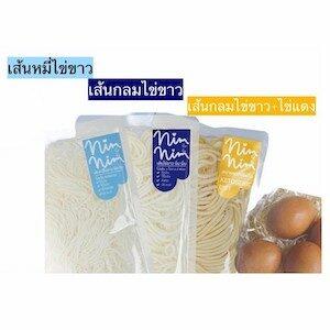 เส้นไข่ขาว จาก Nimnim (นิ่มนิ่ม) ไร้แป้ง ไร้ไขมัน คีโตทานได้