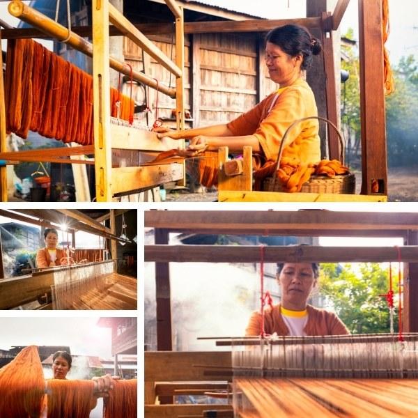 ผ้าฝ้ายภูอัคนี หมู่บ้านเจริญสุข
