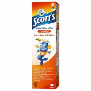 Scott's Emulsion Cod Liver Orange Flavor น้ำมันตับปลา รสส้ม