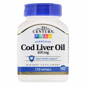 21st Century Norwegian Cod Liver Oil น้ำมันตับปลาค็อด