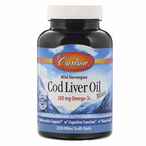 น้ำมันตับปลา Carlson Wild Norwegian Cod Liver Oil Minis