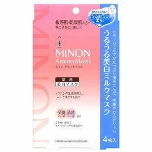 แผ่นมาสก์หน้าญี่ปุ่น Minon Amino Moist Whitening Milk Face Mask