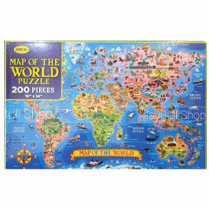 จิ๊กซอว์ แผนที่โลก 200 ชิ้น Map of the World