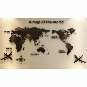 อะคริลิค ติดผนัง ลายแผนที่โลก (Acrylic A Map of The World)