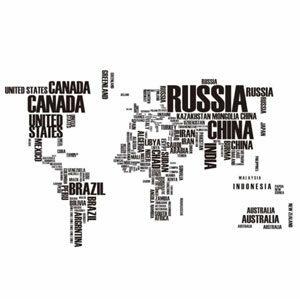 สติ๊กเกอร์แผนที่โลก ติดผนัง World Map Sticker