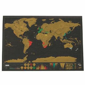 แผนที่โลก แผนที่โลกแบบขูด