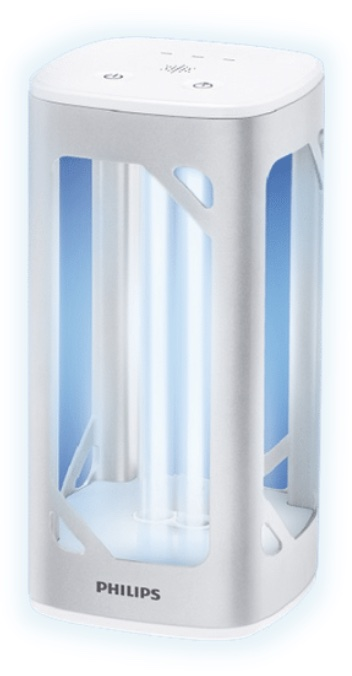 Philips โคมไฟตั้งโต๊ะ แสง UV-C ลดการสะสมของเชื้อไวรัสและเชื้อแบคทีเรีย