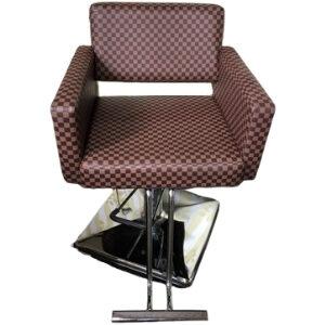 เก้าอี้เสริมสวยไฮดรอลิก แบบเลือกแบบผ้าเองได้