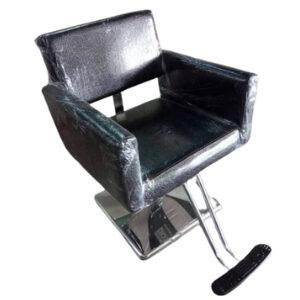 เก้าอี้เสริมสวยไฮดรอลิก ทรงสี่เหลี่ยม