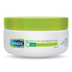 Cetaphil [เซตาฟิล] Rich Night Cream Hyaluronic Acid ไนท์ครีม ป้องกันการเกิดสิว