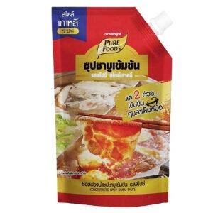 Purefoods น้ำซุปชาบูเข้มข้น รสสไปซี่ สไตล์เกาหลี ขนาด 900 กรัม