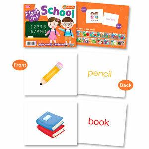 FlashCard 16 หมวด แฟลชการ์ด กระดาษหนา บัตรคำศัพท์สำหรับเด็ก เสริมพัฒนาการเด็ก